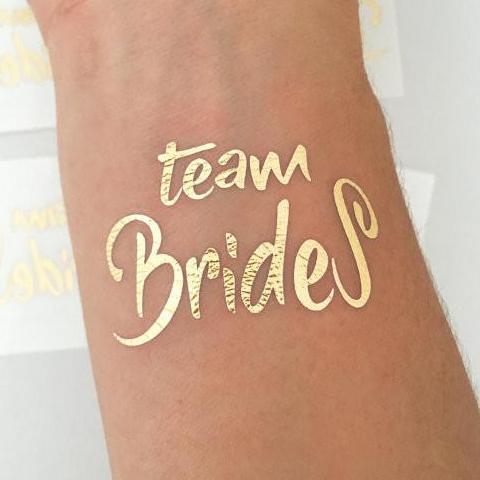 team brides temporary tattoo