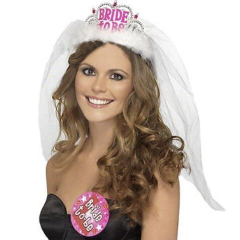 bride to be veil lesbian hen party on woman