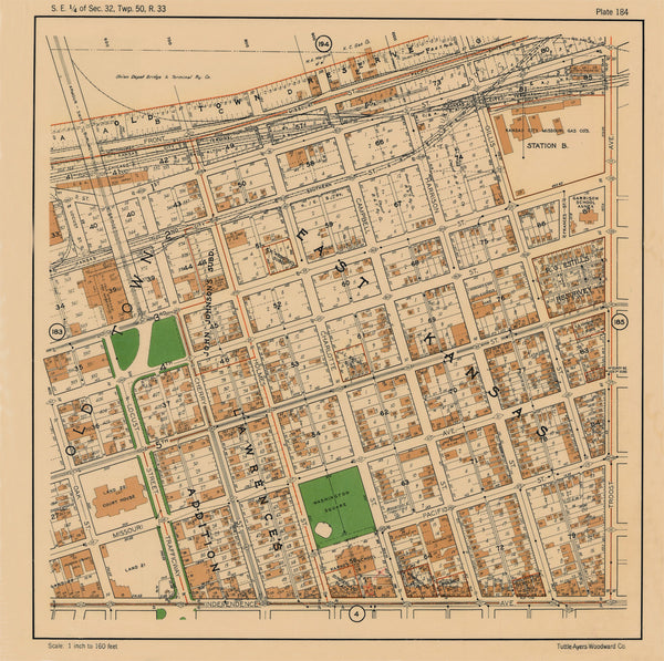 Kansas City 1925 Neighborhood Maps (Tuttle, Ayers, and Woodward)