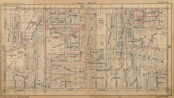 Kansas City 1907 Neighborhood Maps (Tuttle and Pike)