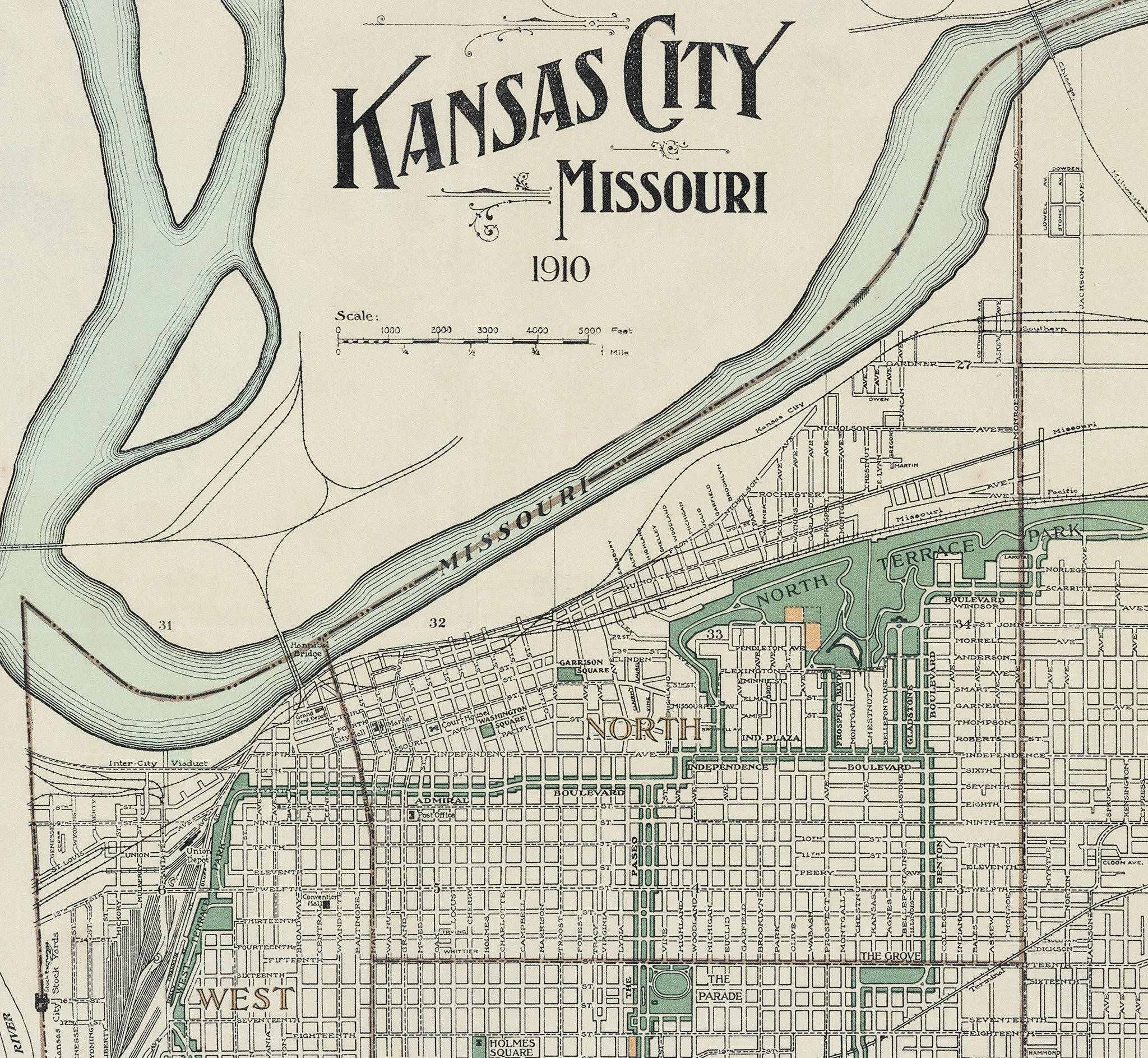 1910 Kansas City Map Gallup Map