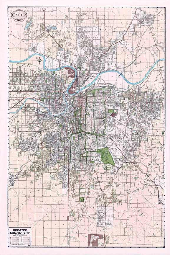 1957 Kansas City Map