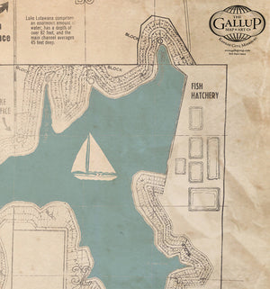 Lake Lotawana Old West Style  Map