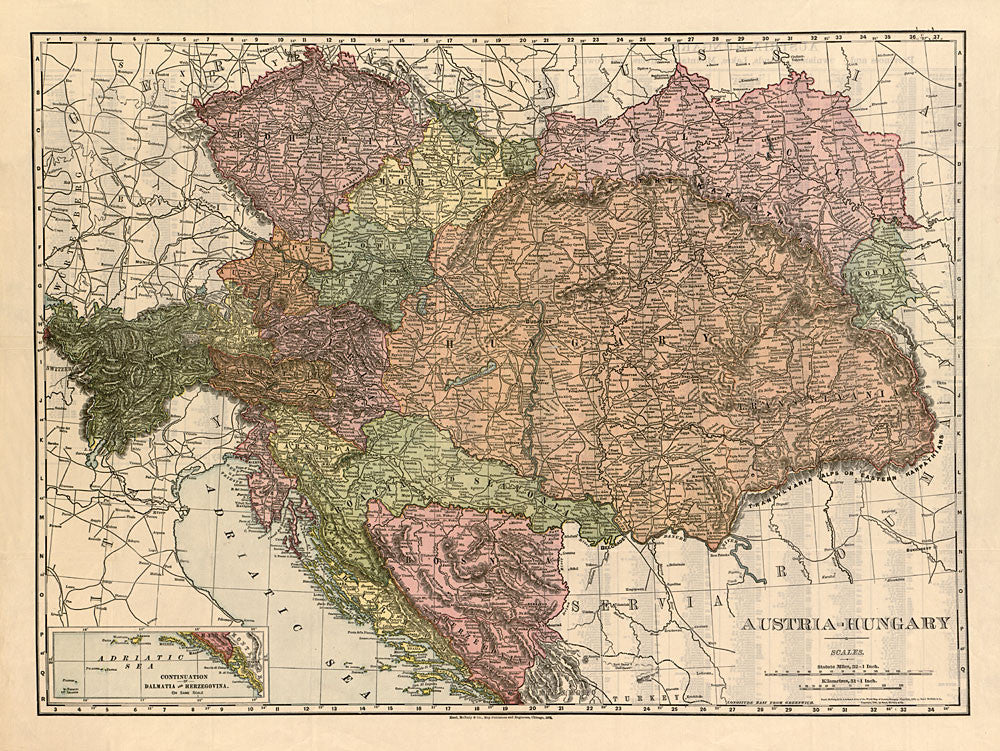 Austria hungary antique vintage map 1908 gallup map authentic kc shirts austria hungary antique vintage map gumiabroncs Choice Image