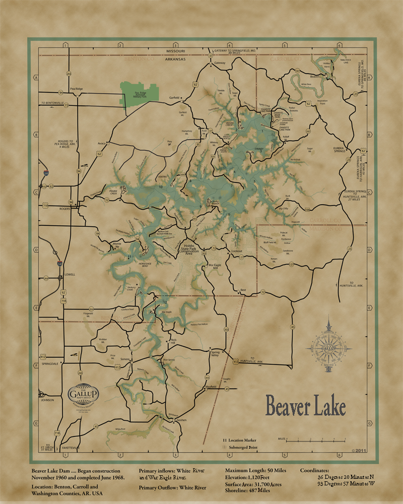 Lake Maps Gallup Map - Old state maps for sale