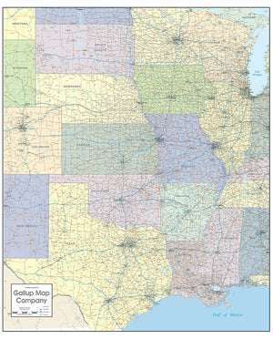 Central United States Map