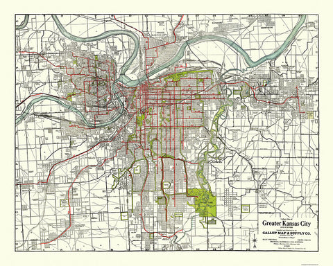 KC Maps Gallup Map - Kansas city map