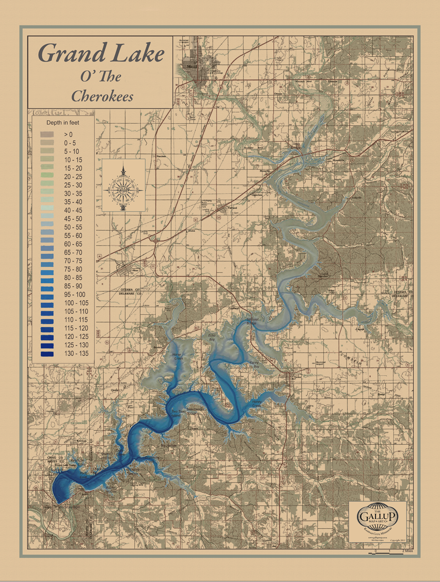 Popular Lake Maps - Gallup Map HA42