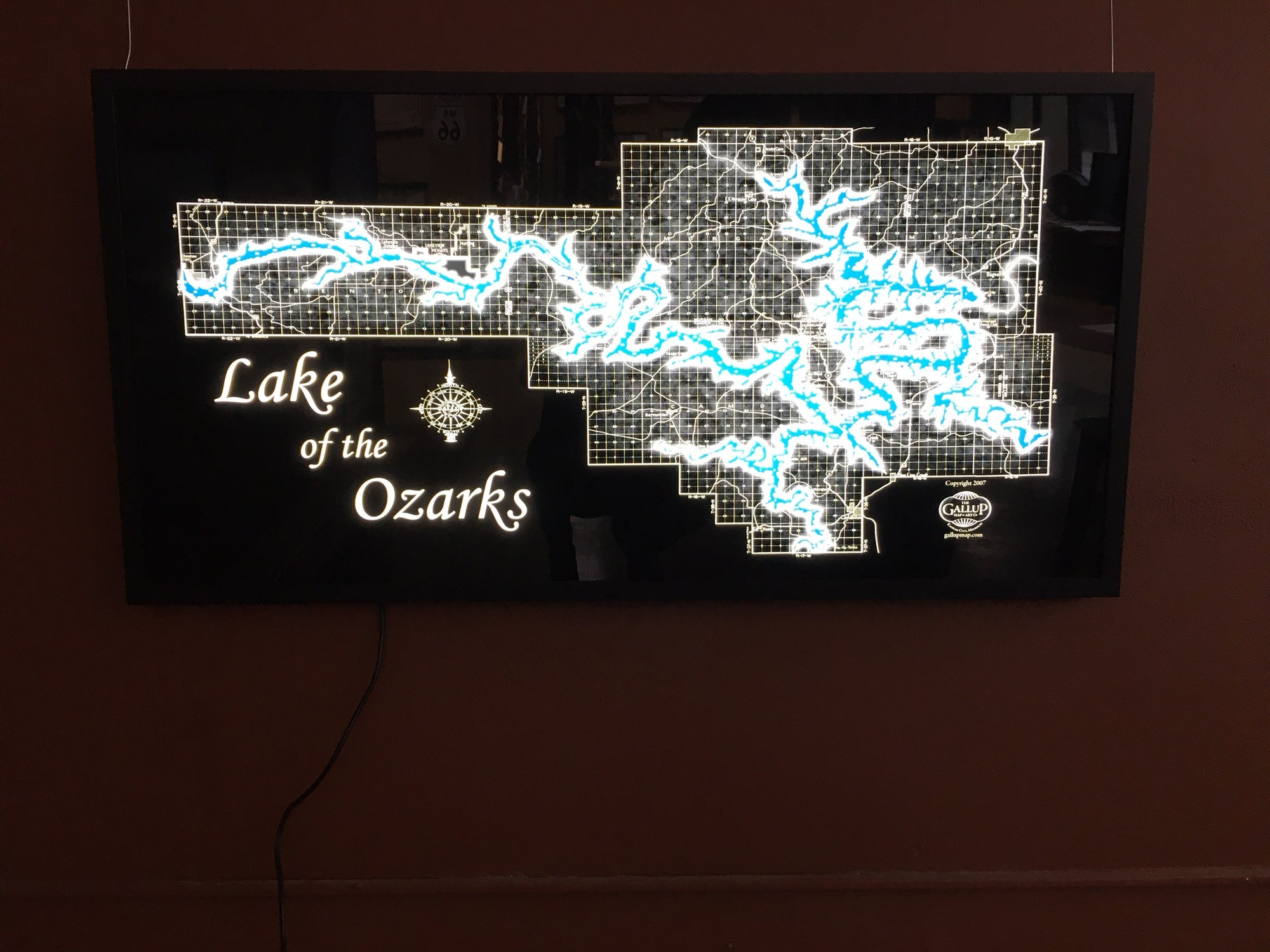 Lake of the Ozarks LED Back-Lit Display