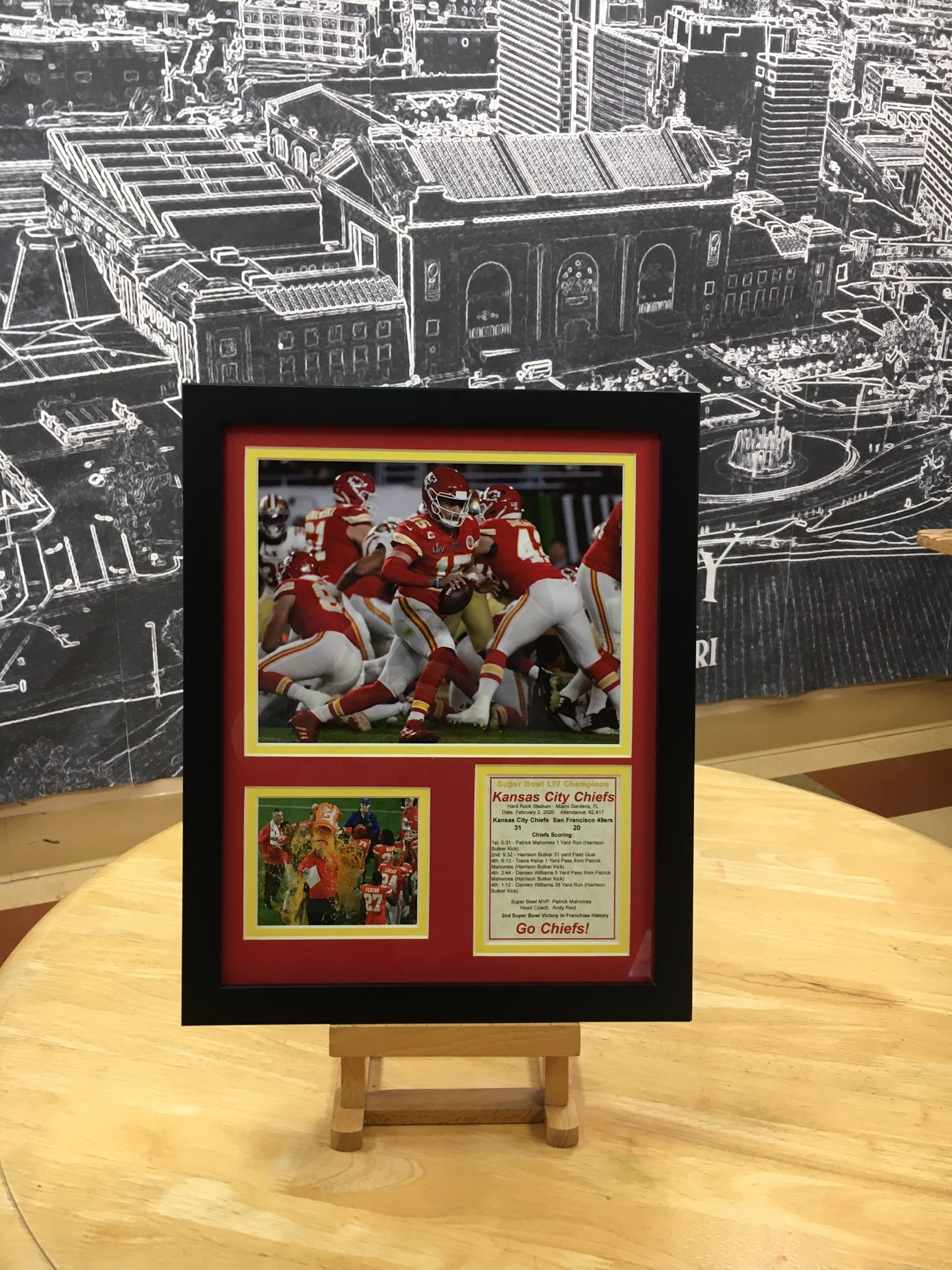 Chiefs Game Action Matted Photos Print 11 x 14 In-Store Pickup