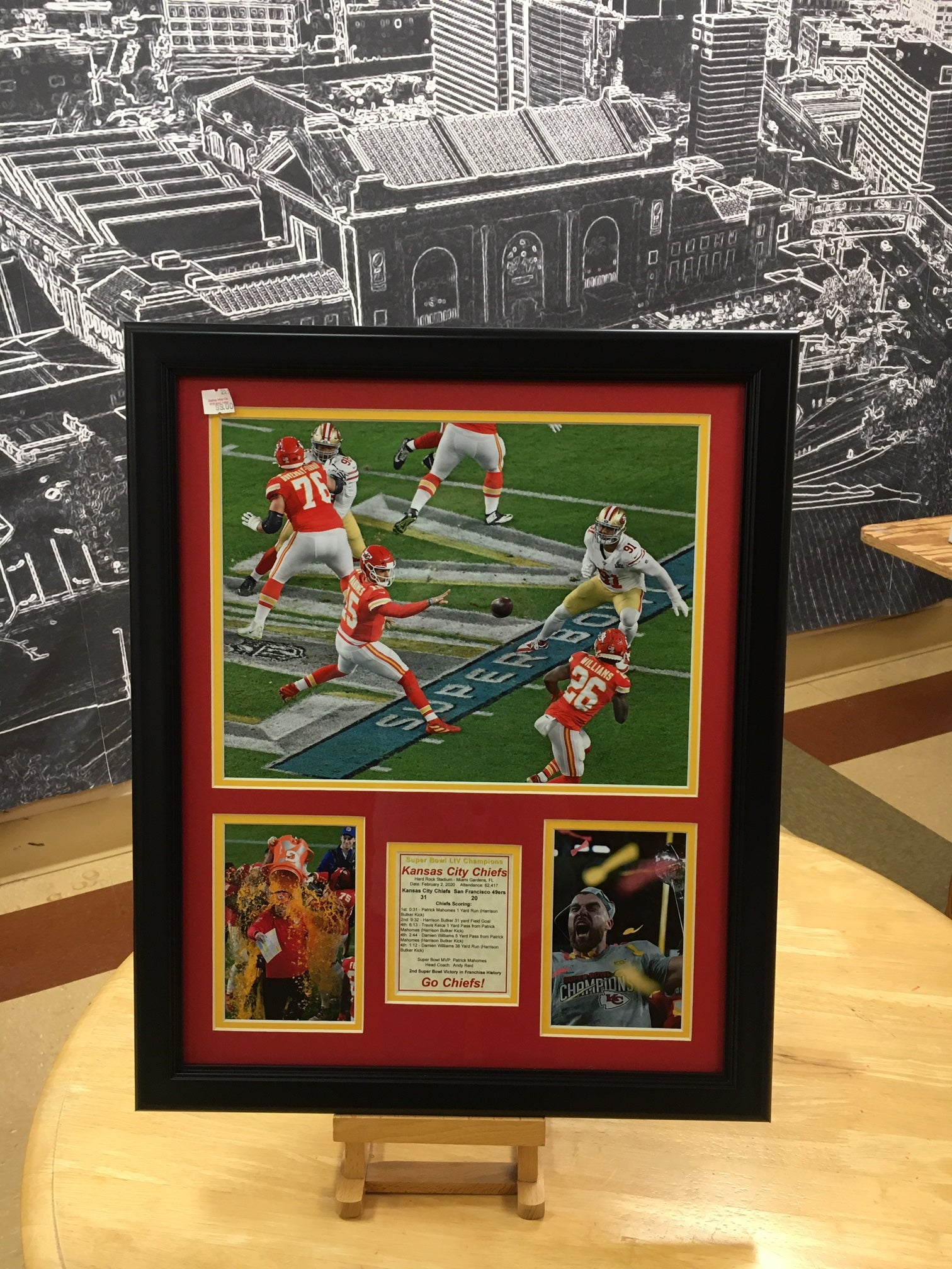 Chiefs Game Action Matted Photos Print 16 x 20  In-Store Pickup