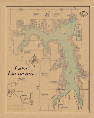 Lake Lotawana Classic Map