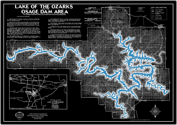 Lake Of The Ozarks Map Brilliant Reverse Gallup Map