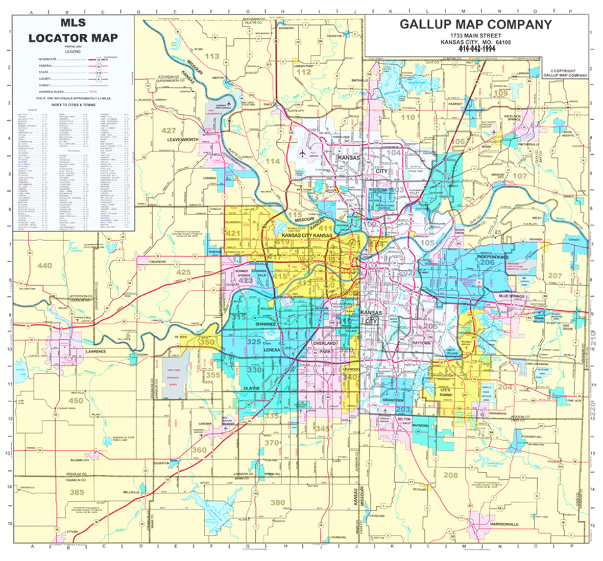 Kansas City MLS Map - Custom Sizes - Gallup Map