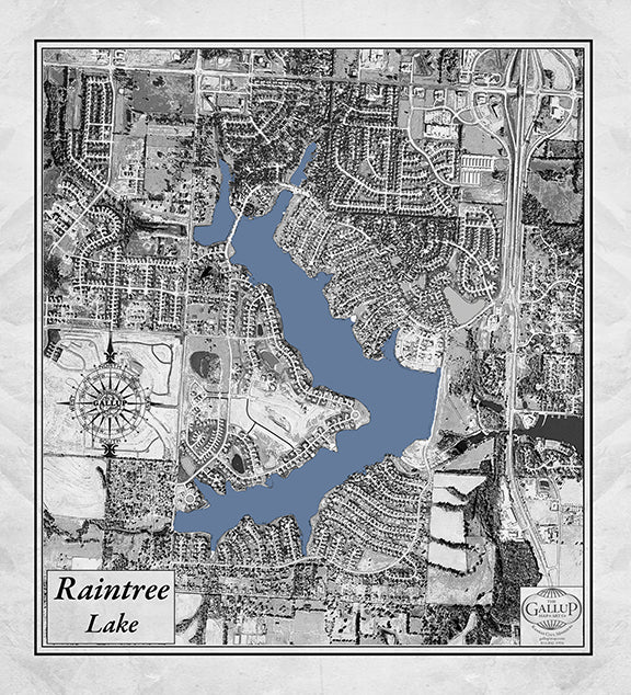 Raintree Lake Classic Gray Map