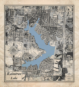 Raintree Lake Map Old West