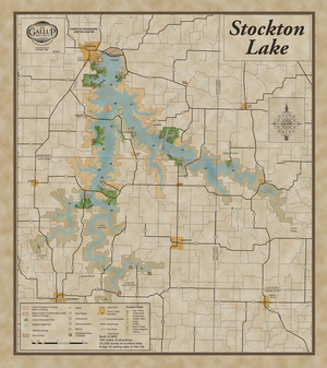 Stockton Lake Map Classic