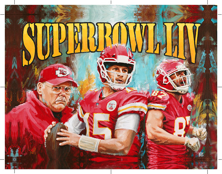 Chiefs Superbowl LIV Canvas Gallery Wrap Print Limited Edition