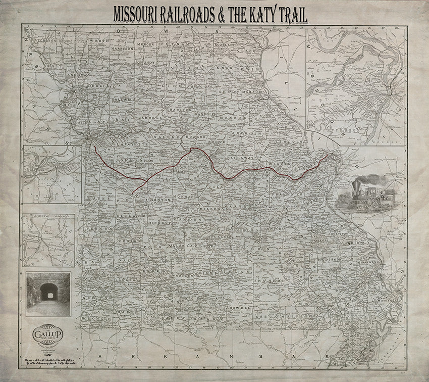 Missouri Railroads and the Katy Trail in Patina Tones