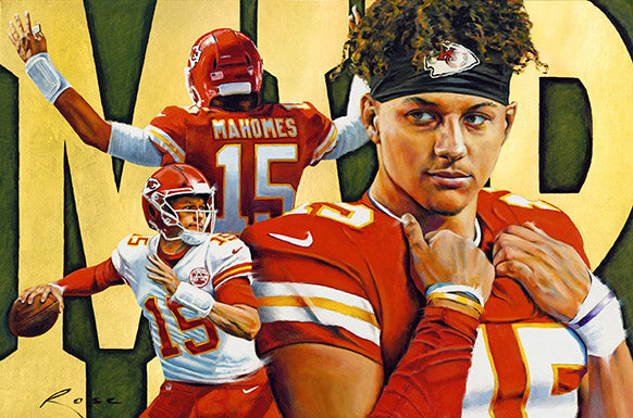 Patrick Mahomes MVP Canvas Gallery Wrap Limited Edition Print By William Rose