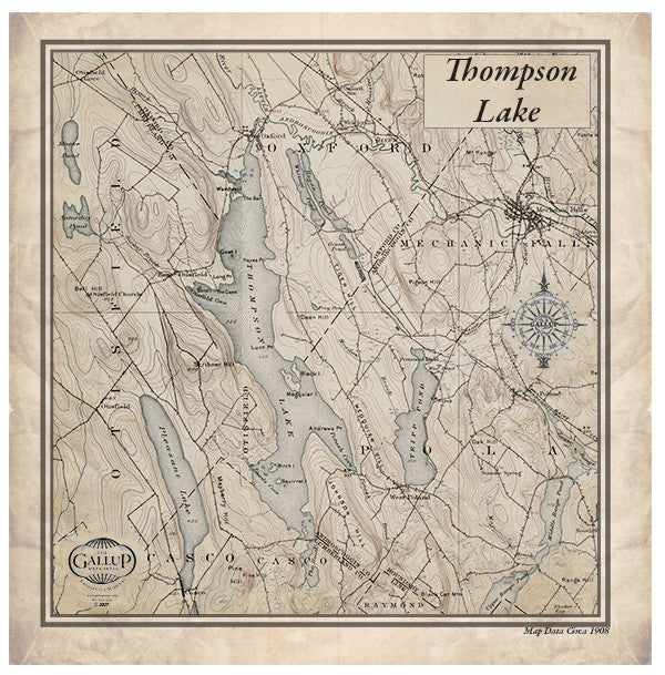 Thompson Lake Maine   Gallup Map