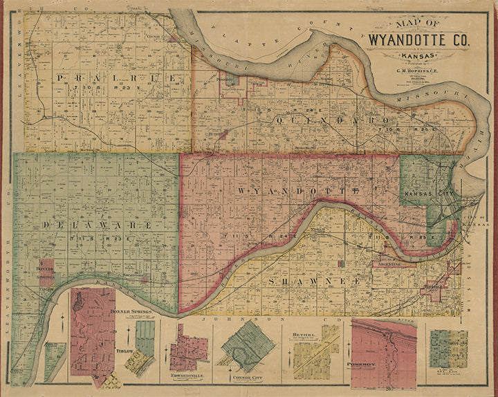 1875 Wyandotte County Map