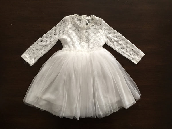 French White Baby Girl Dress