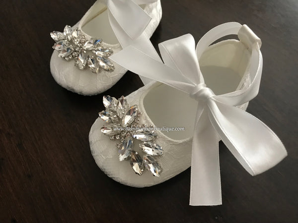 Baby Girl French White Christening Lace