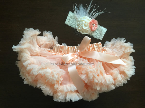 Peach Blush Fluffy Baby Petti Skirt