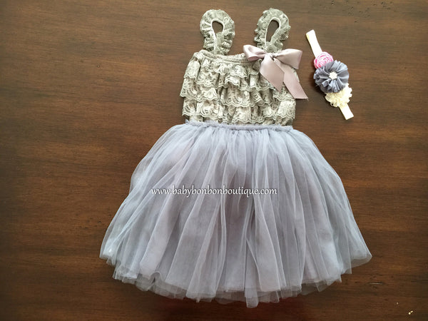 Baby Ballerina Skirt and Lace Romper