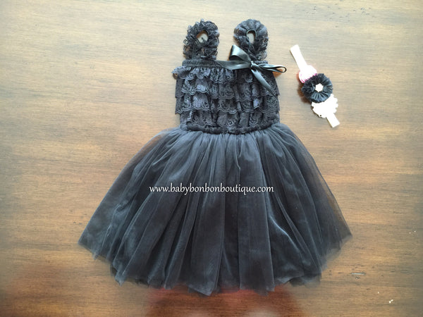 Creme Brulee Baby Ballerina Skirt and Lace Romper