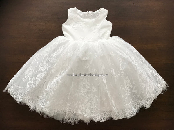 Baby French White Baptism Lace Dress