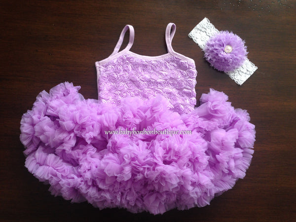 Lavender Fluffy Baby Petti Skirt Dress