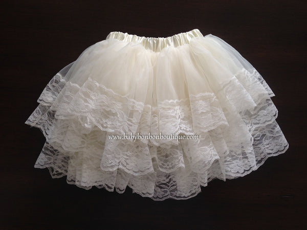 Ivory Full Layered Skirt