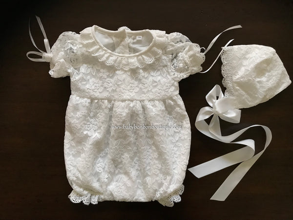 93c6be0692e3 Baby Lace Rompers – Baby Bonbon Boutique