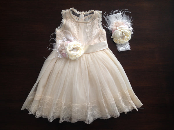 Baby Girl Baptism Dress & Flower Girl Dress