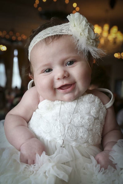 Ivory Baptism Fluffy Dress, Ivory Flower Girl Dress