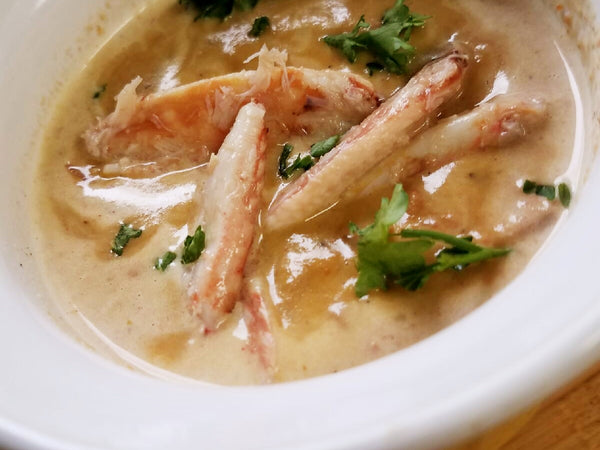 Crab Bisque - Green Pea Soup