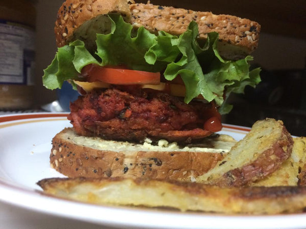 Jared's Vegan Veggie Burger, White Bean Burger, Garbanzo Bean Flake