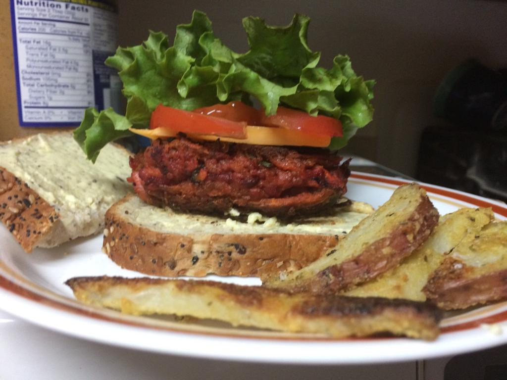 Vegan Veggie Burger, Garbanzo Bean Burger, White Bean Burger