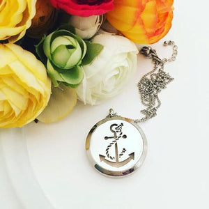 Anchor Jewelry - Aromatherapy Necklace - Stainless Steel Essential Oil Diffuser Necklace - Aromatherapy - Essential Oil Necklace