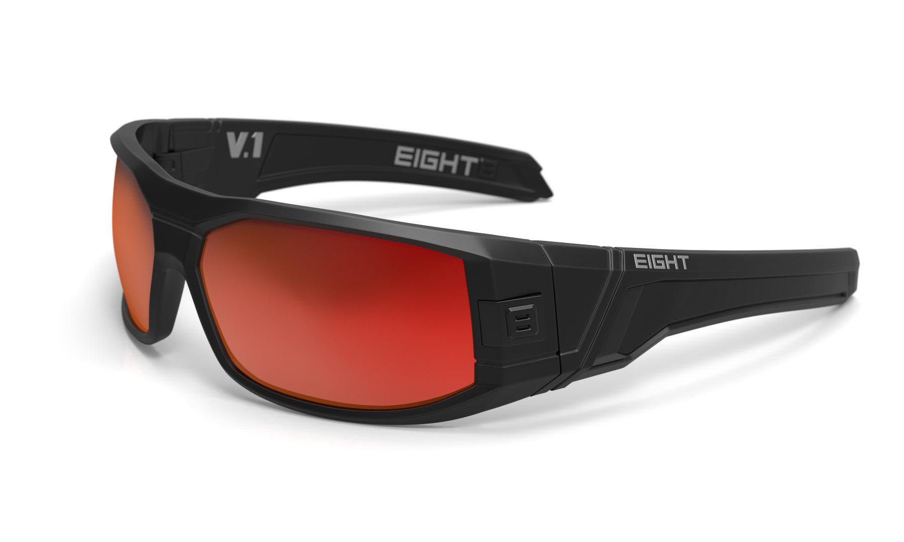 b9023e1fe4 V.1 - Matte Black - Red REVO Polarized – Eight Eyewear