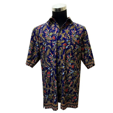 Singapore Batik Men Collar Shirt
