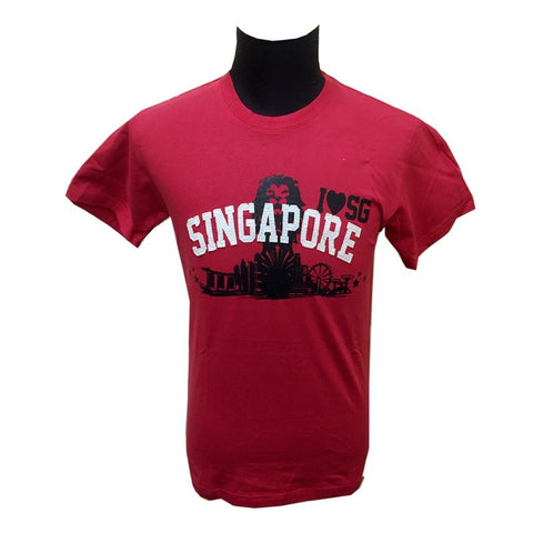 Singapore Lion Heart Tees