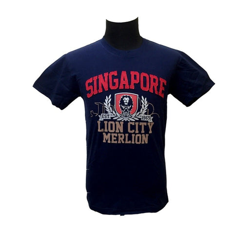 Singapore Lion City Badge Tees