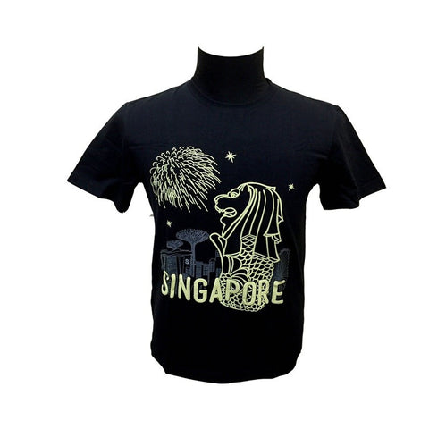 Singapore Fireworks Glow-In-The-Dark Tees