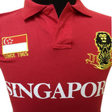 Singapore Flag Polo Tees
