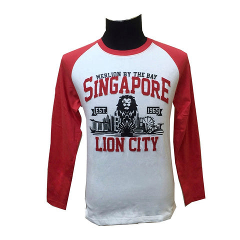 Singapore Day Sky Lion Long Sleeve Tees