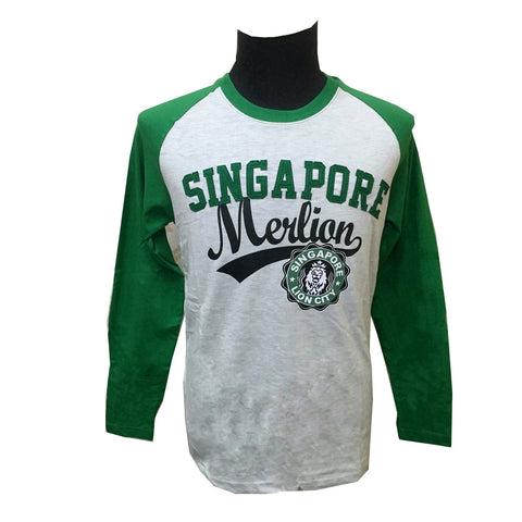 Singapore Merlion Jersey Long Sleeve Tees