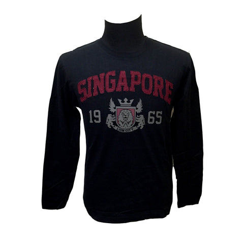 Singapore Lion City Badge Long Sleeve Tees